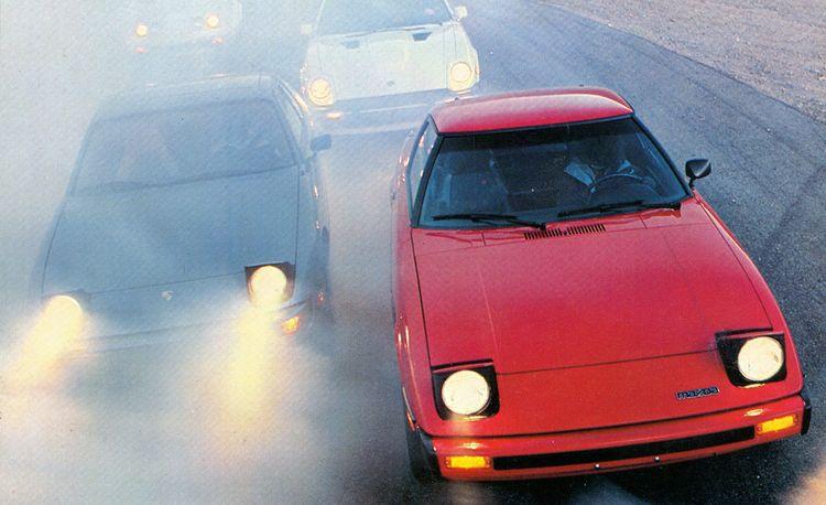 Alfa Romeo Spider vs. Chevy Corvette, Datsun 280-ZX, Fiat Spider 2000, Mazda RX-7, Porsche 924