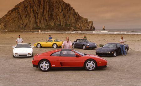 Porsche 911 Carrera 4 Cabriolet vs. Acura NSX, Chevrolet Corvette ZR-1, Ferrari 348ts, Lotus Esprit Turbo SE