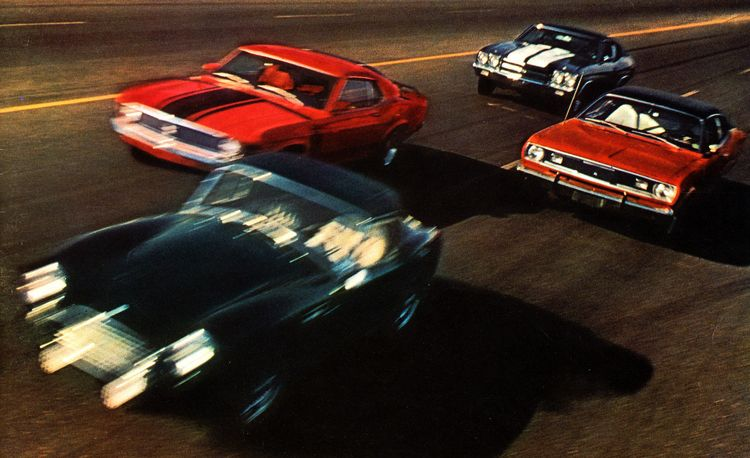 Shelby AC Cobra 289 vs. Ford Mustang Boss 302, Chevy SS454 Chevelle, Plymouth Duster 340