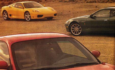 Aston Martin DB7 Vantage vs. Porsche 911 Turbo, Ferrari 360 Modena F1