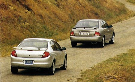 Dodge Neon R/T vs. Nissan Sentra SE