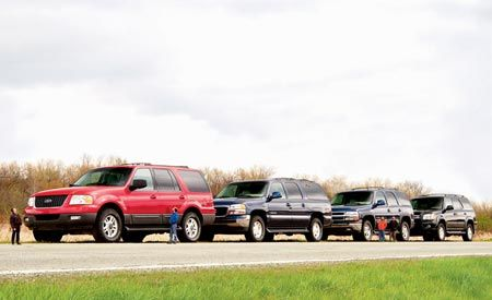 Chevy Tahoe vs. Ford Expedition, GMC Yukon, Toyota Sequoia