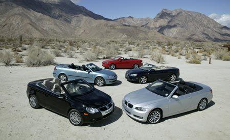 VW Eos Vs Audi A BMW I Volvo C Saab - Bmw 328i vs audi a4