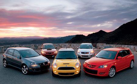 2007 VW GTI vs. Subaru Impreza WRX TR, Mini Cooper S, Nissan Sentra SE-R Spec V, Mazdaspeed 3 Grand Touring