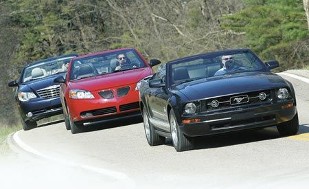 2008 Chrysler Sebring vs. 2007 Pontiac G6, 2007 Ford Mustang