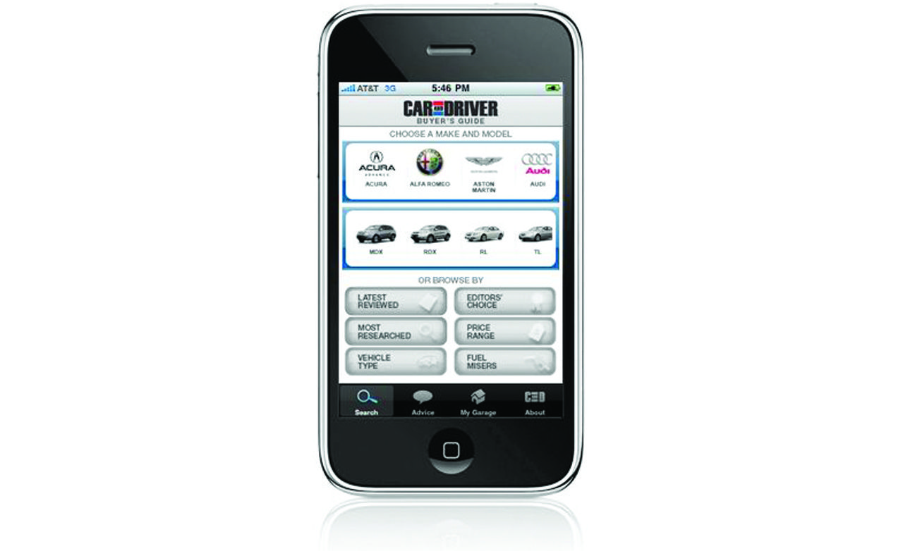 Car and Driver Buyer's Guide iPhone App
