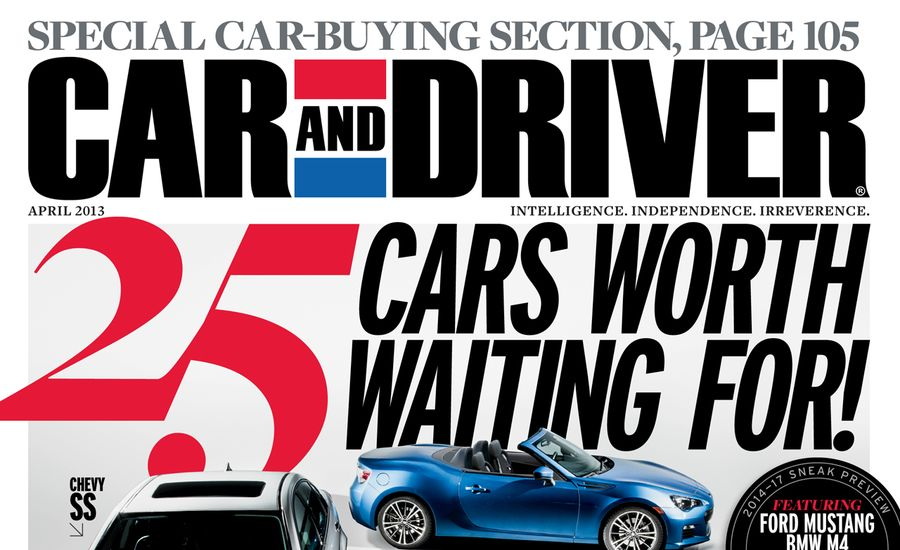 Car And Driver Magazine April 2013 Issue Table Of Contents