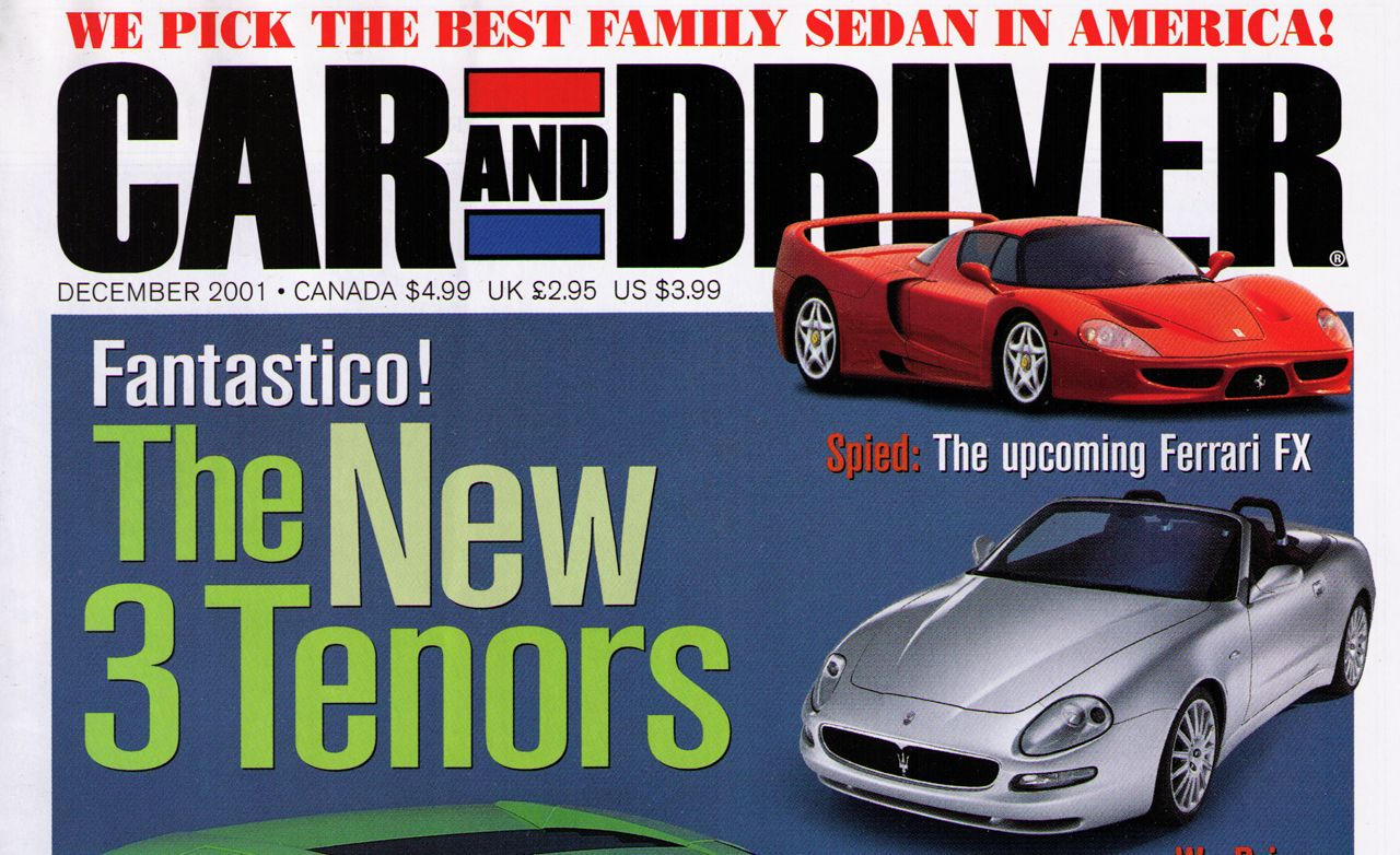 Car and Driver Magazine - December 2001 Issue - Table of Contents