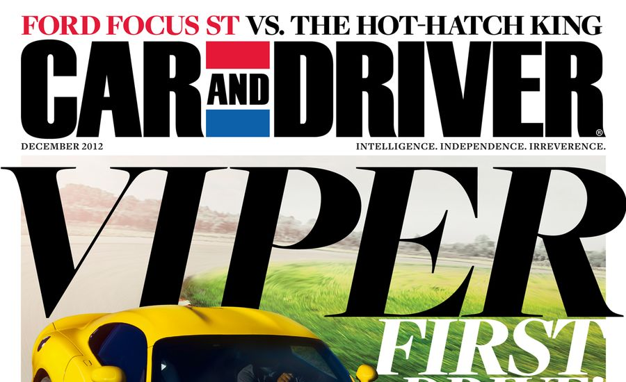Car And Driver Magazine December Issue Table Of Contents - Car and driver