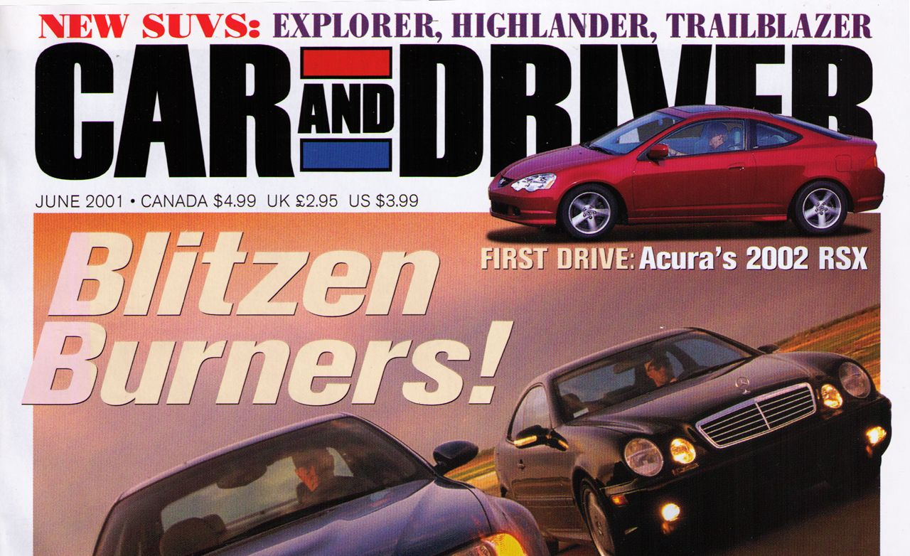 Car and Driver Magazine - June 2001 Issue - Table of Contents