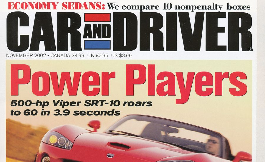 Car and Driver Magazine - November 2002 Issue - Table of Contents