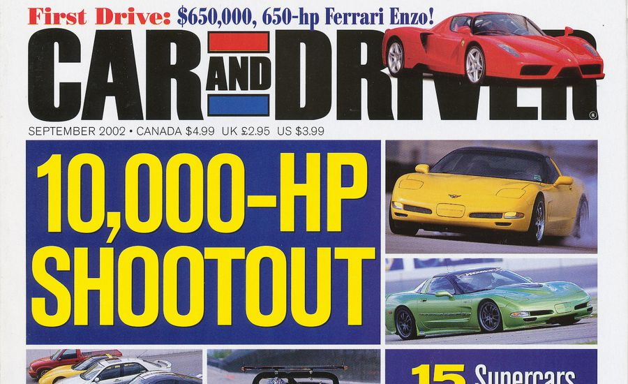 Car and Driver Magazine - September 2002 Issue - Table of Contents