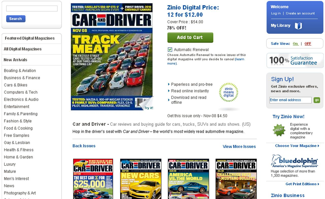 Digital Magazine Subscriptions