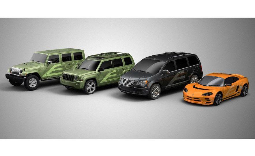 Jeep Wrangler Unlimited EV, Jeep Patriot EV, Chrysler Town & Country EV, and Dodge Circuit EV concepts - Slide 1