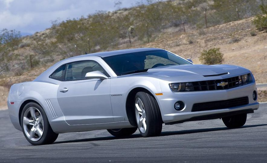 2010 Ford Mustang GT coupe, 2009 Dodge Challenger R/T, and 2010 Chevrolet Camaro SS - Slide 36
