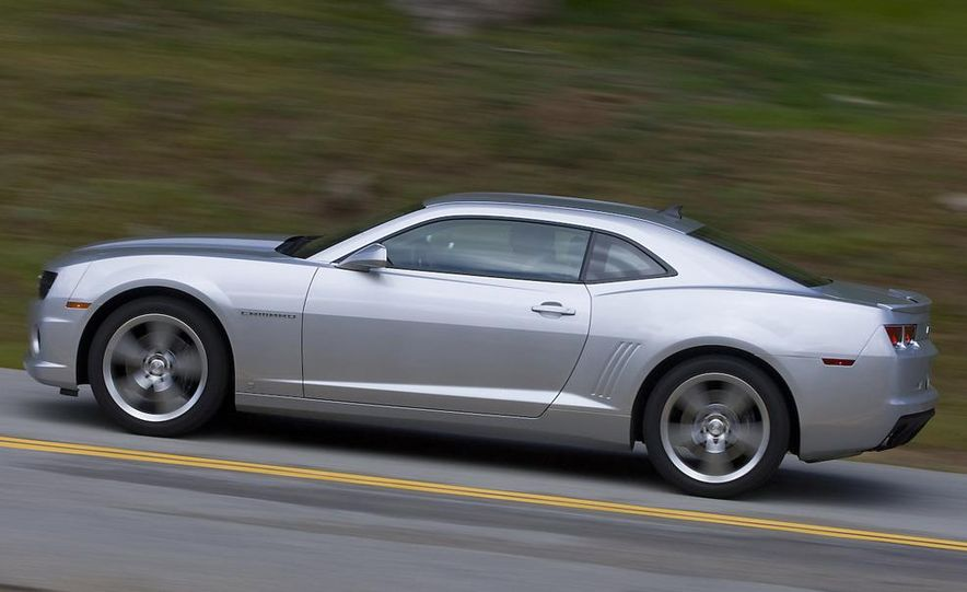 2010 Ford Mustang GT coupe, 2009 Dodge Challenger R/T, and 2010 Chevrolet Camaro SS - Slide 38