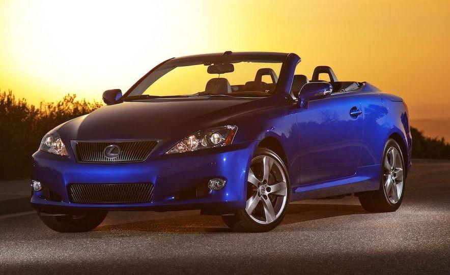 2010 Lexus IS convertible rear seatbelts - Slide 56