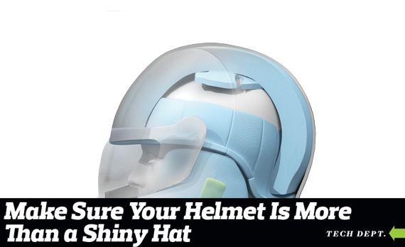 Breakdown of a Racing Helmet
