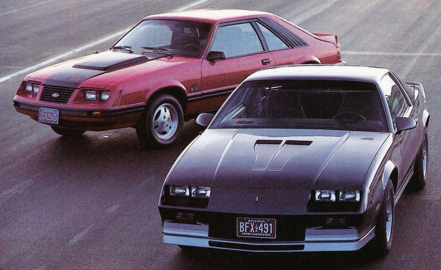 1983 Ford Mustang GT and Chevrolet Camaro Z28 - Slide 1