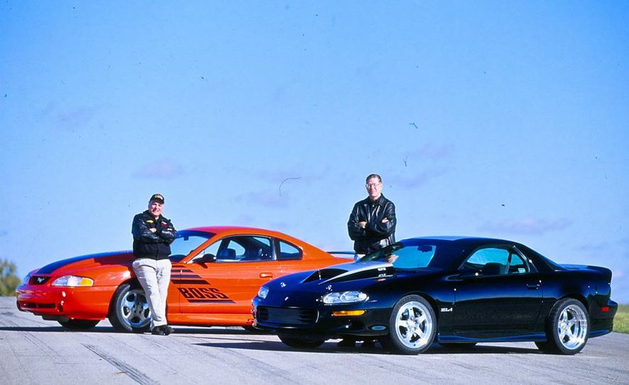 John Coletti with his Ford Boss Mustang and Jon Moss with his Chevrolet ZL-1 Camaro - Slide 1