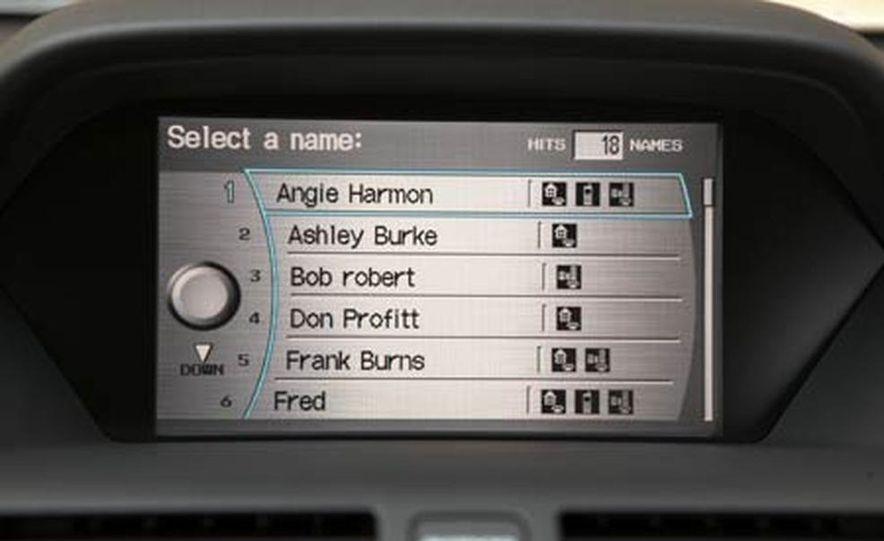 2007 Acura MDX instrument cluster and steering wheel - Slide 85