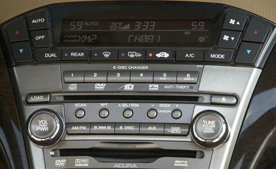 2007 Acura MDX instrument cluster and steering wheel - Slide 86