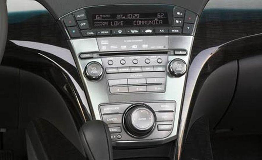 2007 Acura MDX instrument cluster and steering wheel - Slide 89