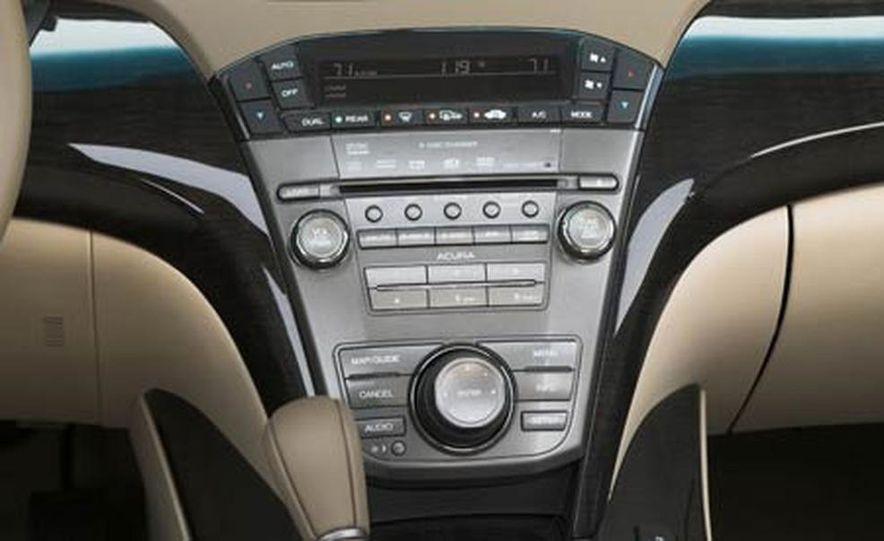 2007 Acura MDX instrument cluster and steering wheel - Slide 90