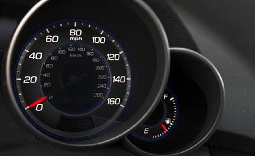 2007 Acura MDX instrument cluster and steering wheel - Slide 95