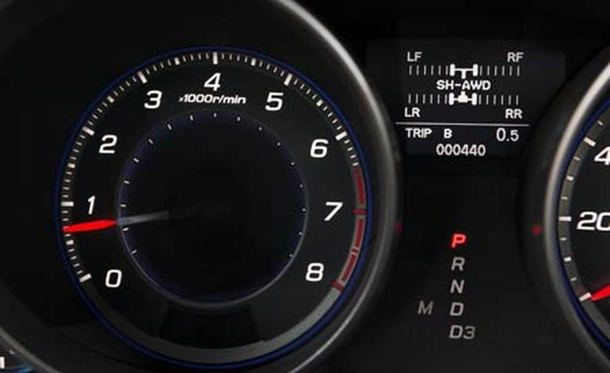 2007 Acura MDX instrument cluster and steering wheel - Slide 99