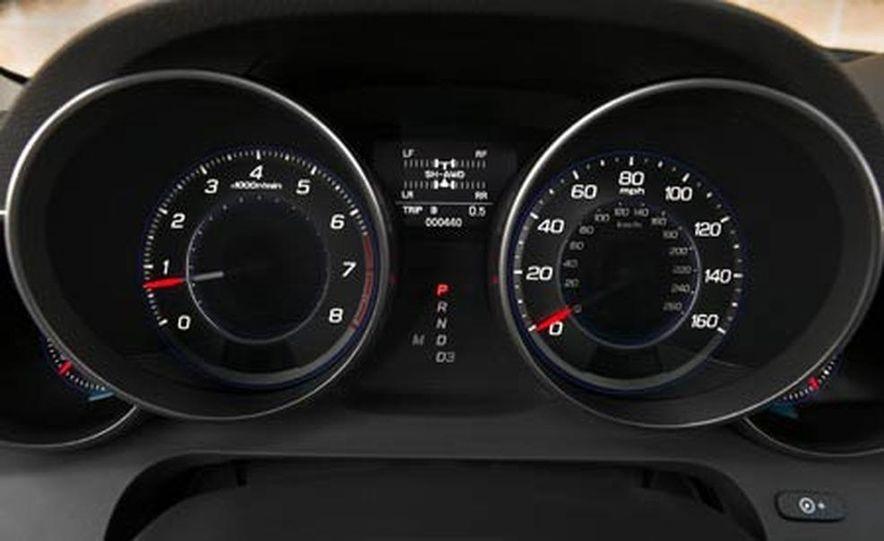 2007 Acura MDX instrument cluster and steering wheel - Slide 100