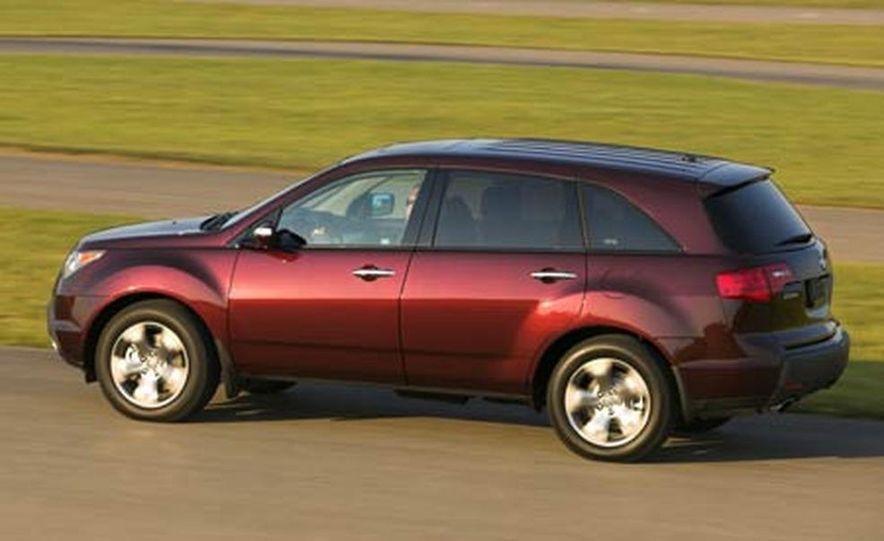 2007 Acura MDX instrument cluster and steering wheel - Slide 78
