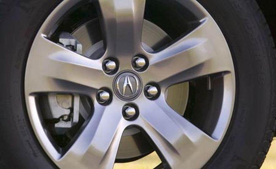 2007 Acura MDX instrument cluster and steering wheel - Slide 26