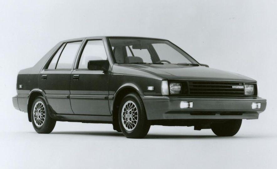 1986 Hyundai Excel GLS sedan - Slide 1