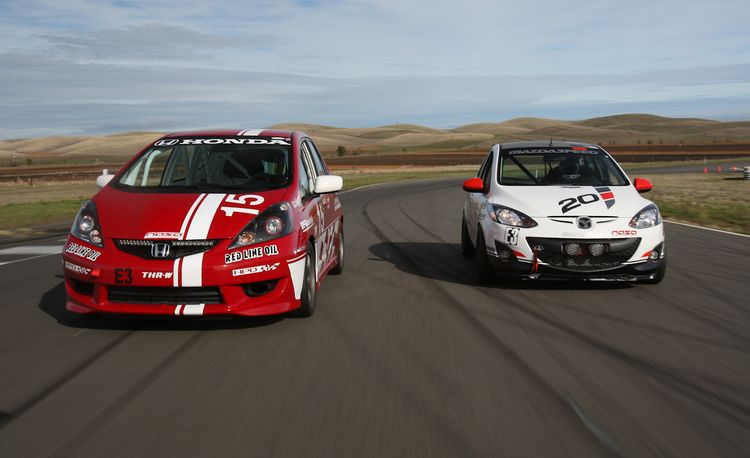 The 25 Hours of Thunderhill in a B-spec Mazda 2 and Honda Fit