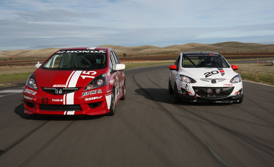 The 25 Hours of Thunderhill in a B-spec Mazda 2 and Honda Fit ...