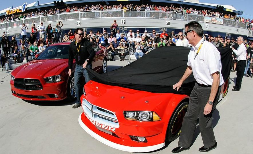 2012 Dodge Charger R/T and 2013 Dodge Charger NASCAR Sprint Cup Car - Slide 1