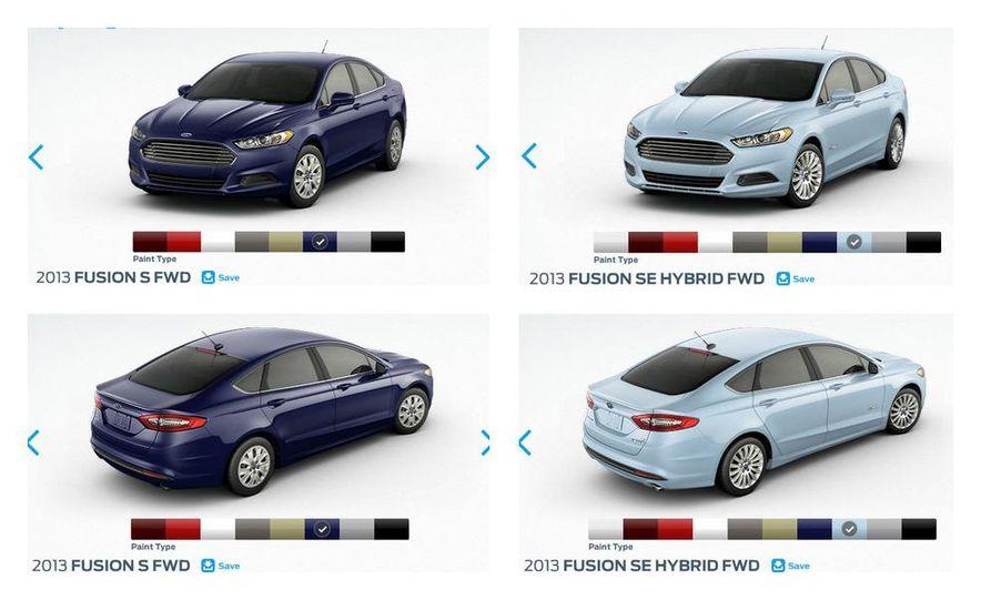 2013 Ford Fusion Configurator - Slide 1