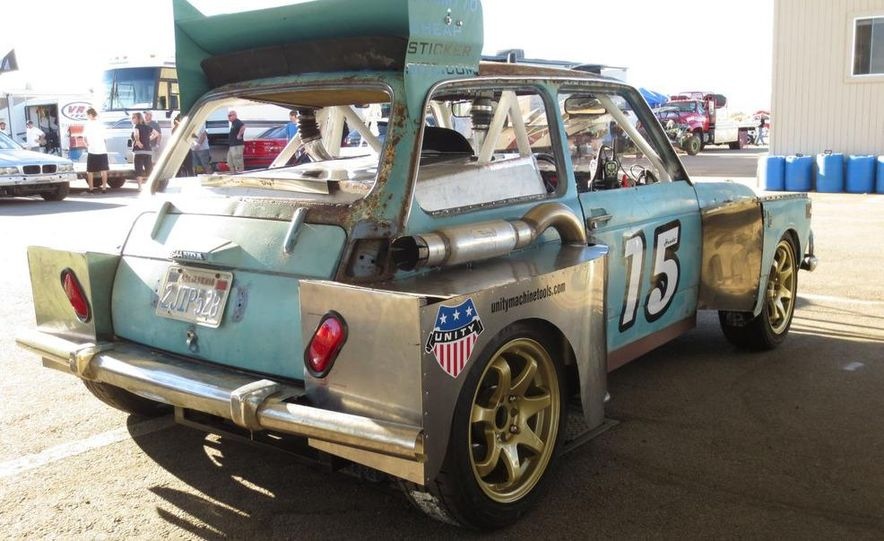 24 Hours of LeMons Arse Freeze-a-Palooza BS Inspections: Saab-ified Honda 600, Ace Rothstein's Cadillac Biarritz - Slide 24