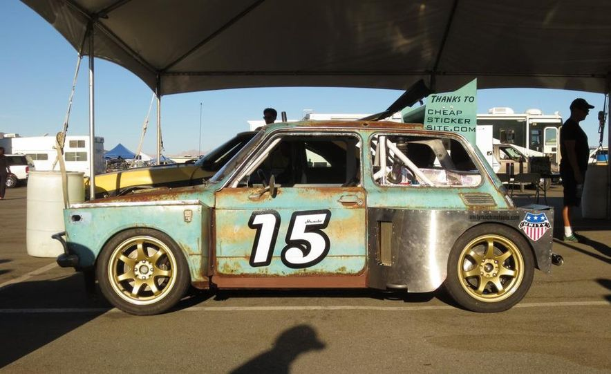 24 Hours of LeMons Arse Freeze-a-Palooza BS Inspections: Saab-ified Honda 600, Ace Rothstein's Cadillac Biarritz - Slide 25