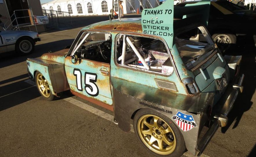 24 Hours of LeMons Arse Freeze-a-Palooza BS Inspections: Saab-ified Honda 600, Ace Rothstein's Cadillac Biarritz - Slide 26