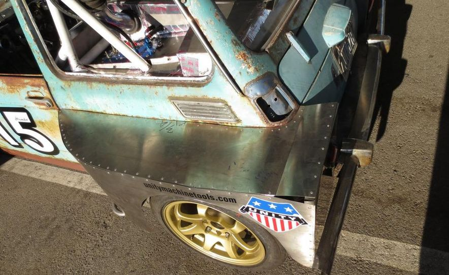 24 Hours of LeMons Arse Freeze-a-Palooza BS Inspections: Saab-ified Honda 600, Ace Rothstein's Cadillac Biarritz - Slide 27