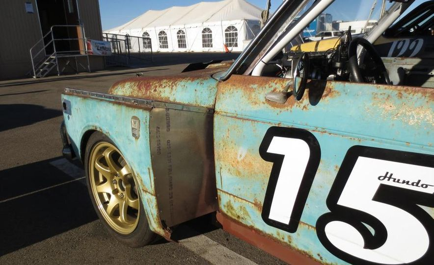 24 Hours of LeMons Arse Freeze-a-Palooza BS Inspections: Saab-ified Honda 600, Ace Rothstein's Cadillac Biarritz - Slide 28