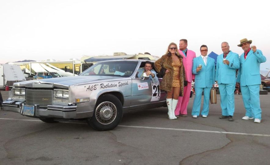 24 Hours of LeMons Arse Freeze-a-Palooza BS Inspections: Saab-ified Honda 600, Ace Rothstein's Cadillac Biarritz - Slide 46