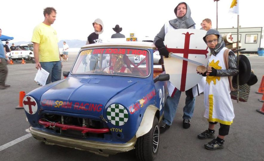 24 Hours of LeMons Arse Freeze-a-Palooza BS Inspections: Saab-ified Honda 600, Ace Rothstein's Cadillac Biarritz - Slide 51