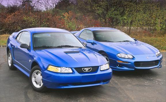 1999 Chevrolet Camaro Z28 vs Ford Mustang GT  Archived