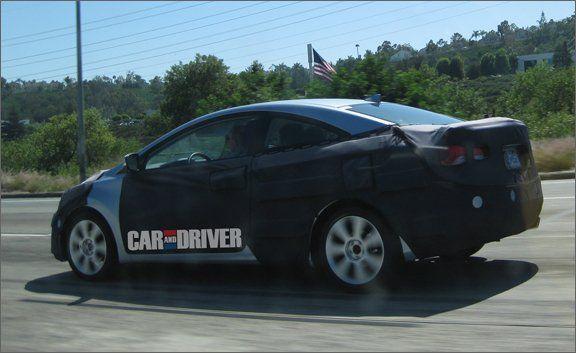 2012 Hyundai Elantra Coupe Spy Photos  News  Car and Driver