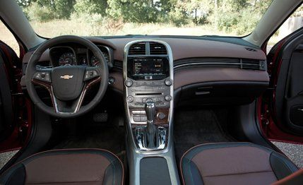2013 chevrolet malibu 2 5l instrumented test review car and driver rh caranddriver com 2008 Chevy Malibu Interior 2008 Chevy Malibu LT Dashboard