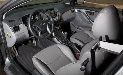 2013 Hyundai Elantra Coupe Instrumented Test  Review  Car and Driver