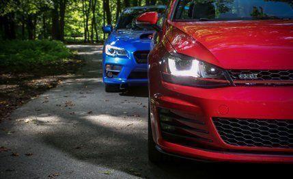 Gti Vs Wrx >> 2015 Subaru Wrx Vs 2015 Volkswagen Gti Comparison Test Car